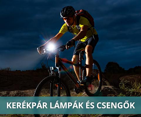 Kerékpáros csengők, lámpák