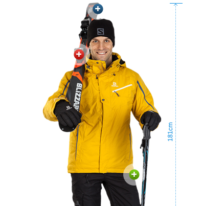 Blizzar Men's alpine skis slamon winter hat