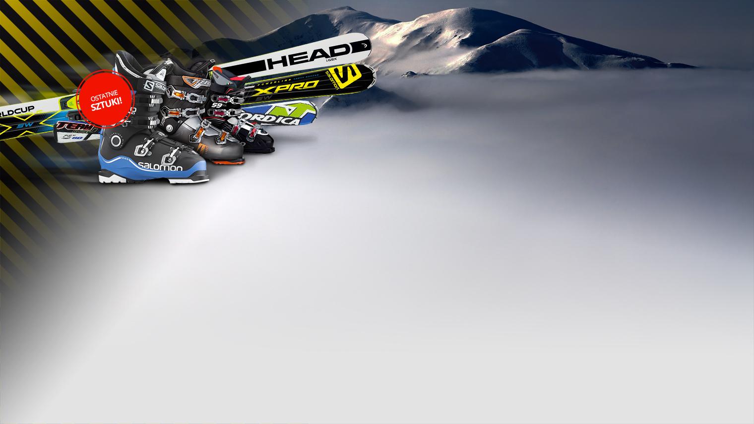 Wyprzedaż nart i butów narciarskich w mrożąco niskich cenach!