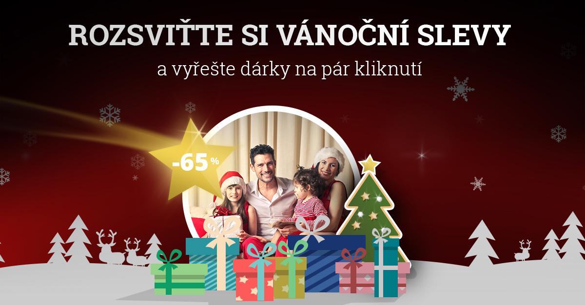 Nakupte vánoční DÁRKY se SLEVOU AŽ 65 %!