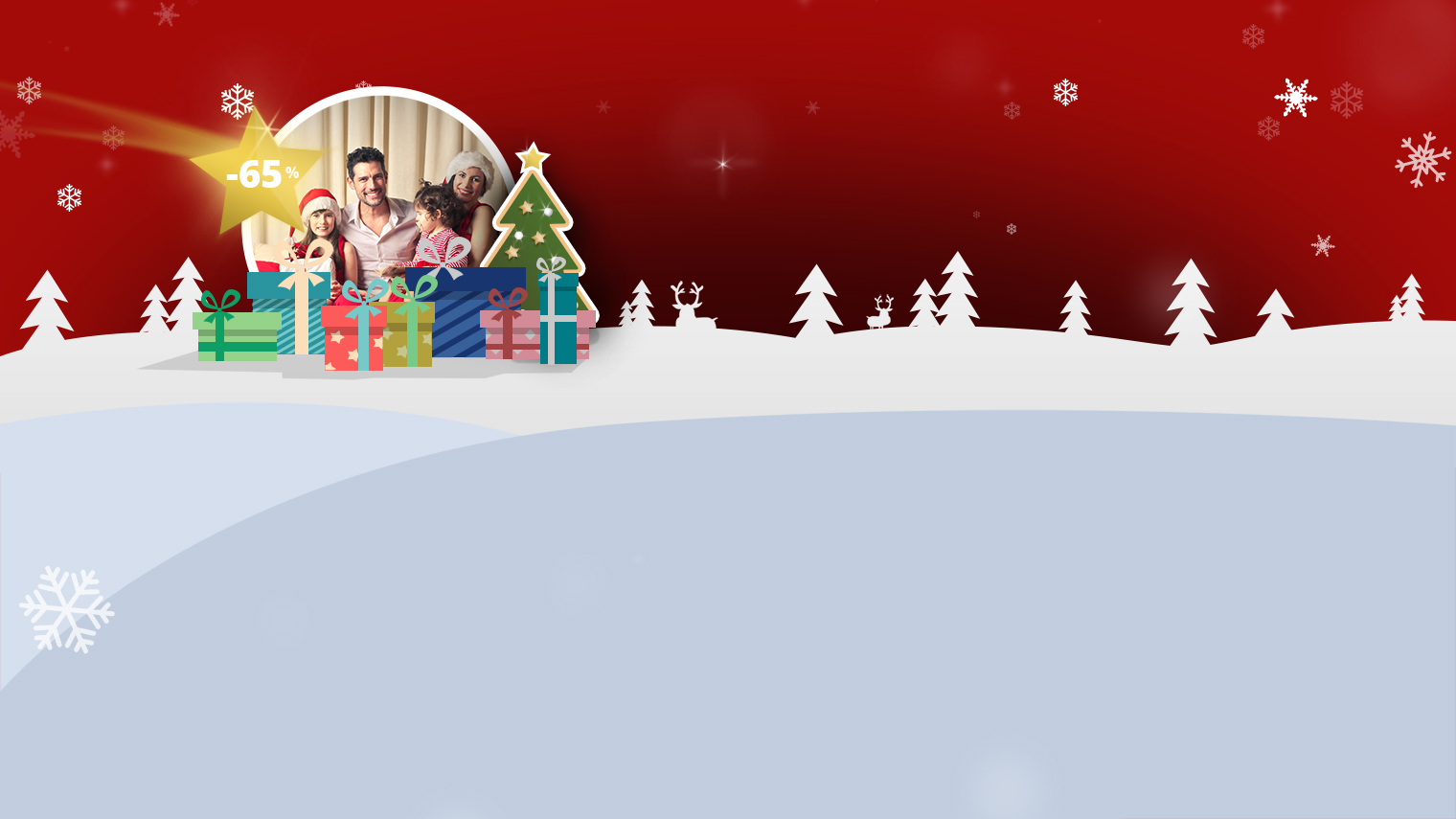 Christmas shopping with discounts of up to 65%!