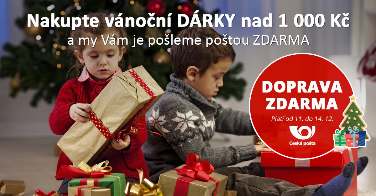 Nakupte vánoční dárky s DOPRAVOU ZDARMA