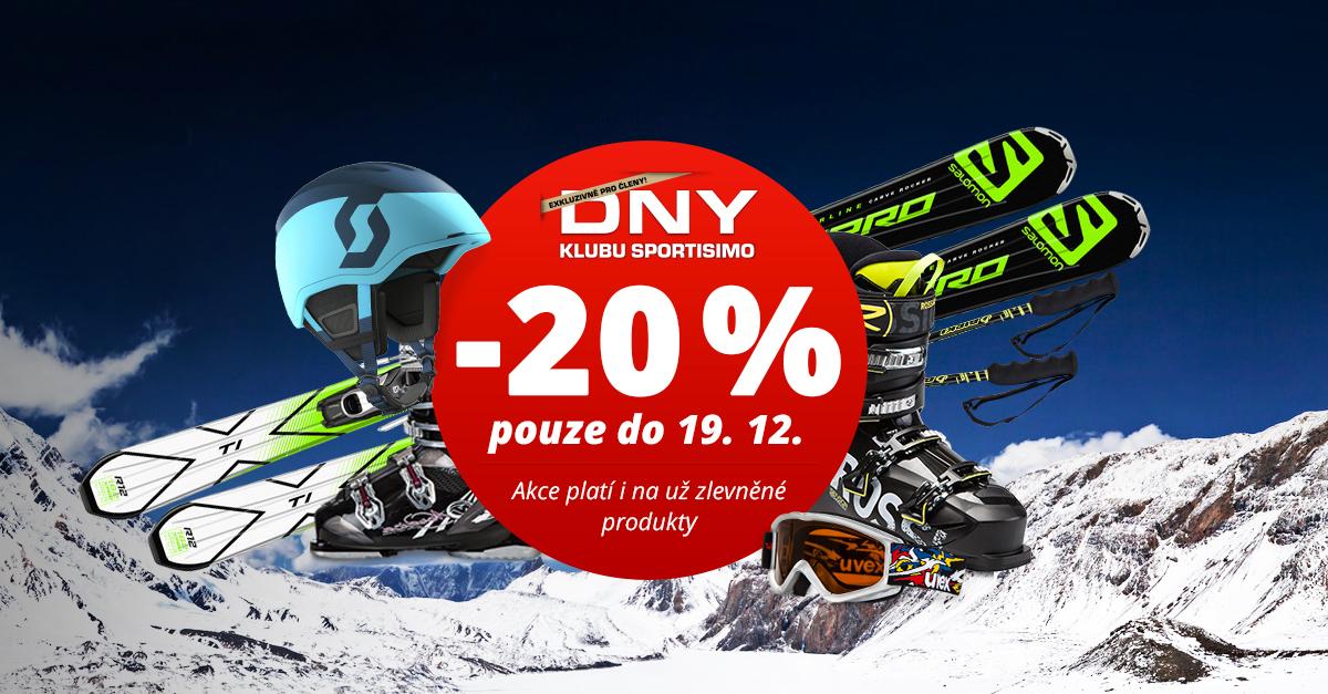 Supervýhodné Dny Klubu SPORTISIMO: 20% slevy na lyžařskou výbavu