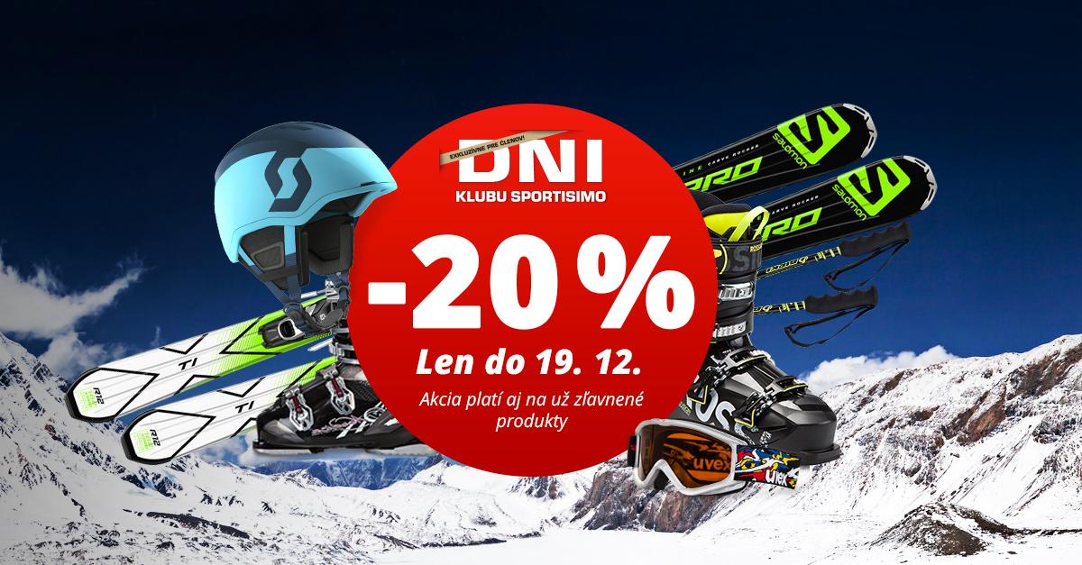 Supervýhodné DNI KLUBU SPORTISIMO: 20% zľavy na lyžiarsku výbavu