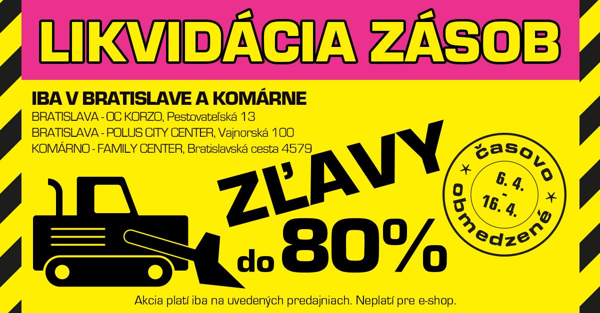 Likvidácia zásob na vybraných predajniach: pomôžte nám VYBIELIŤ SKLADY!