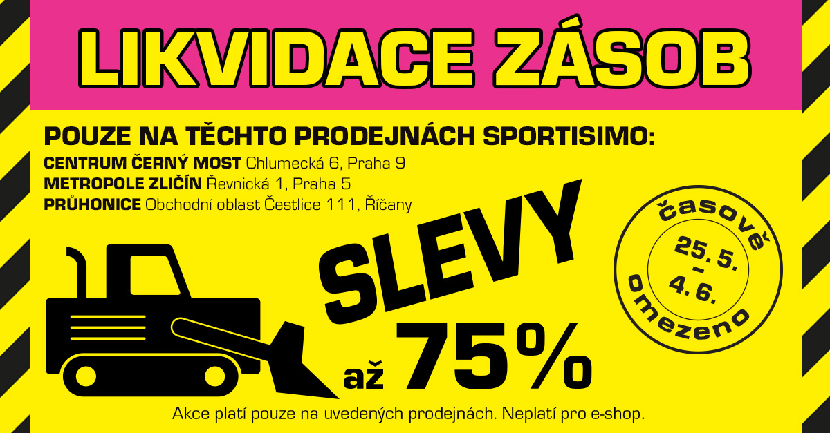 LIKVIDUJEME zásoby ve 3 prodejnách, CENY padají: až - 75 % na STOVKY produktů!