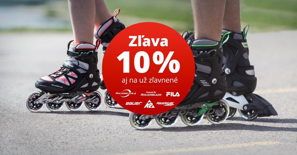 Letná akcia: INLINE korčule s 10% zľavou (aj na už zľavnené). Hurá na asfalt!