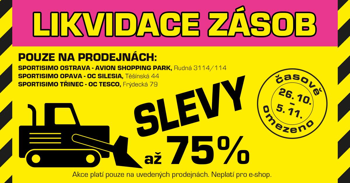 Až o 75 % levnější nákupy: LIKVIDACE ZBOŽÍ v Ostravě, Opavě a Třinci