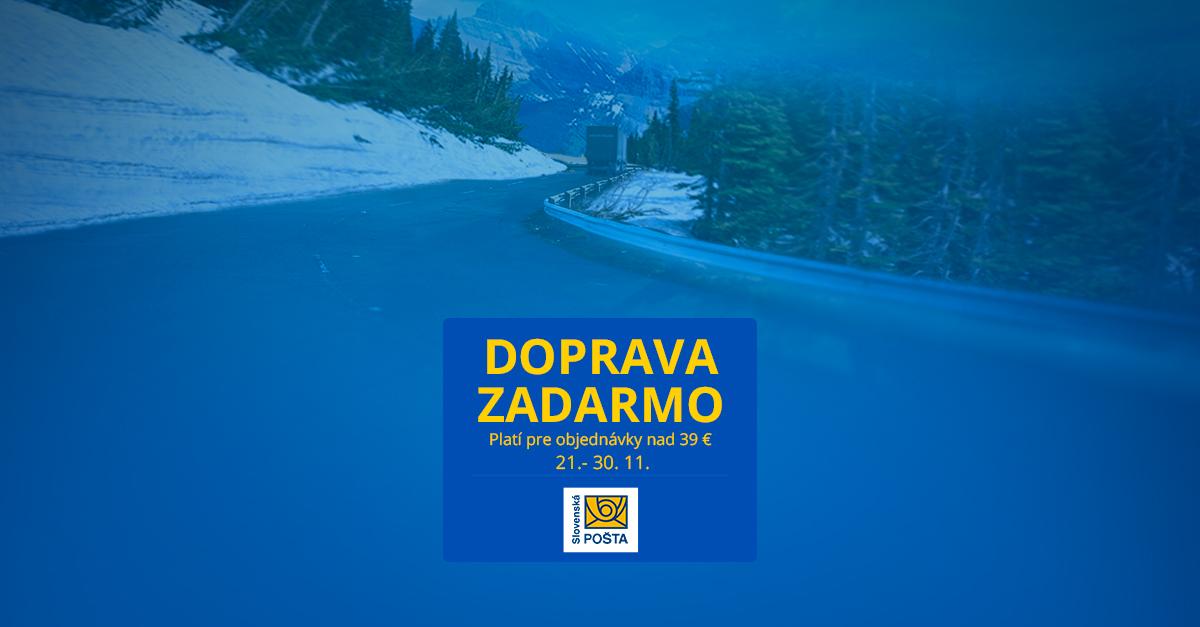 Poštovné ZADARMO už nad 39 € – akcia platí len do 30. 11.
