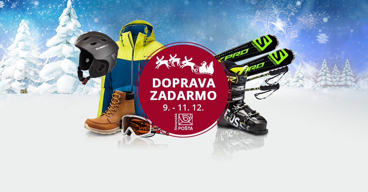 Doprava ZADARMO nad  30 € so Slovenskou poštou od 9. do 11. 12.