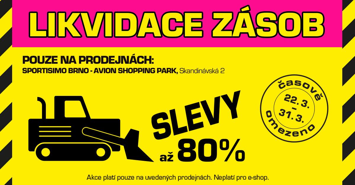 Bláznivé jaro: likvidační SLEVY AŽ 80 % v Brně (Avion Shopping Park)