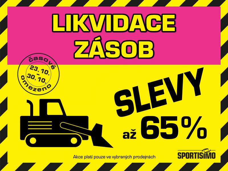 ČISTÍME SKLADY hned v 6 prodejnách: SLEVY až 65 %!