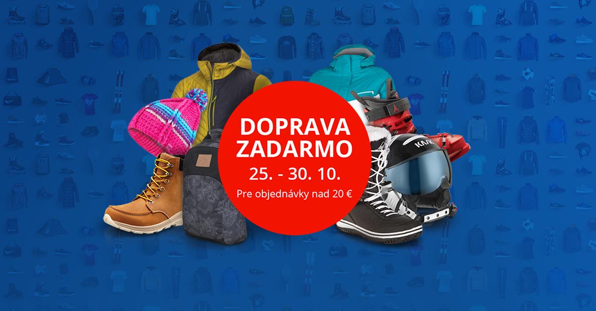 Doprava ZADARMO 25. – 30. 10. Stačí nakúpiť nad 20 €!