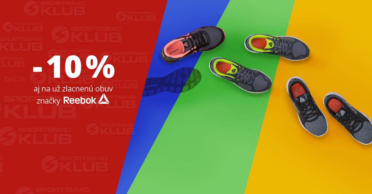 10% zľava na obuv Reebok pre členov Sportisimo Klubu
