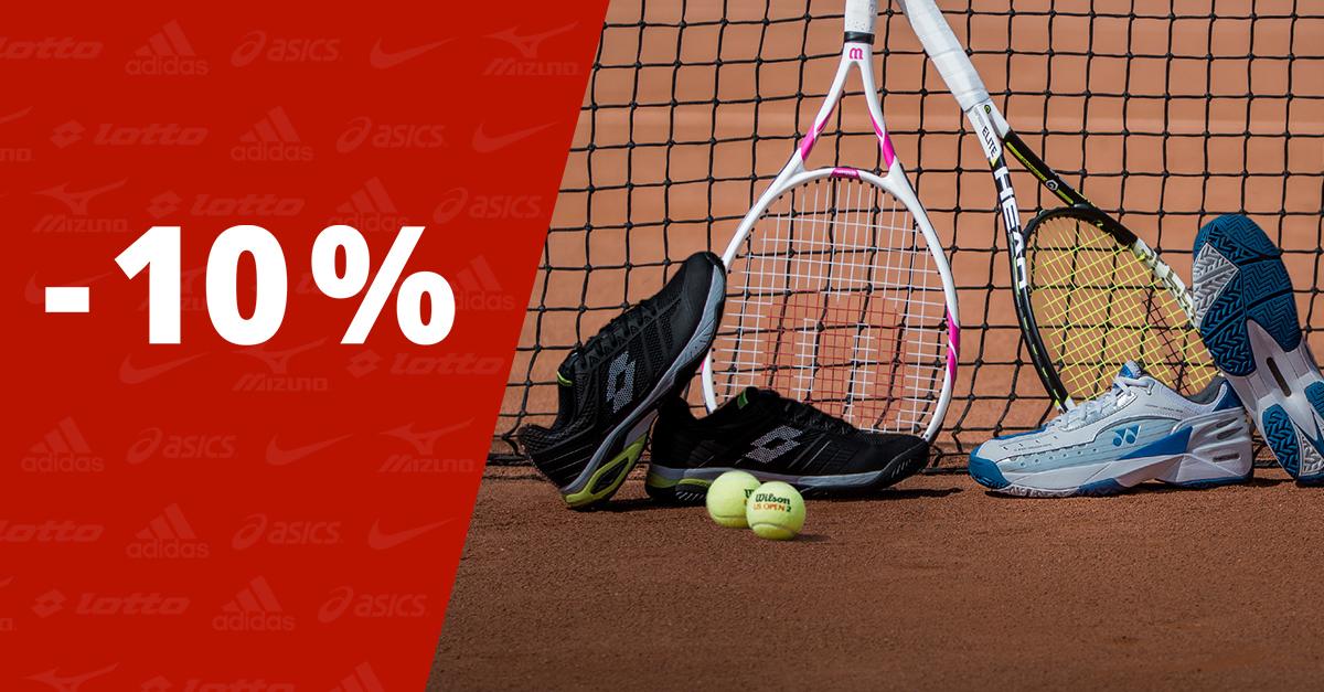 Levittük mindegyik, már kedvezményes teniszcipő árát további 10%-kal