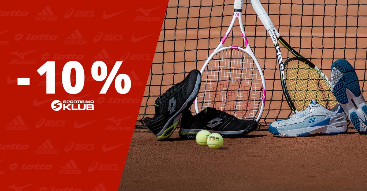 Extra zľava 10 % na zlacnenú tenisovú obuv pre členov Sportisimo Klubu