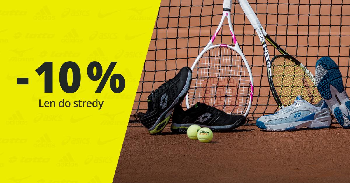 Všetku tenisovú obuv v zľave sme zlacnili o ďalších 10 %