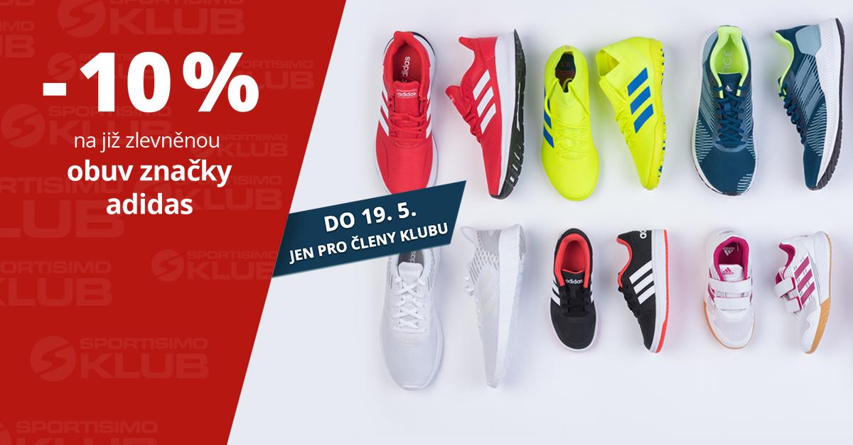 Dny Sportisimo Klubu patří slevě 10 % na všechny boty značky adidas