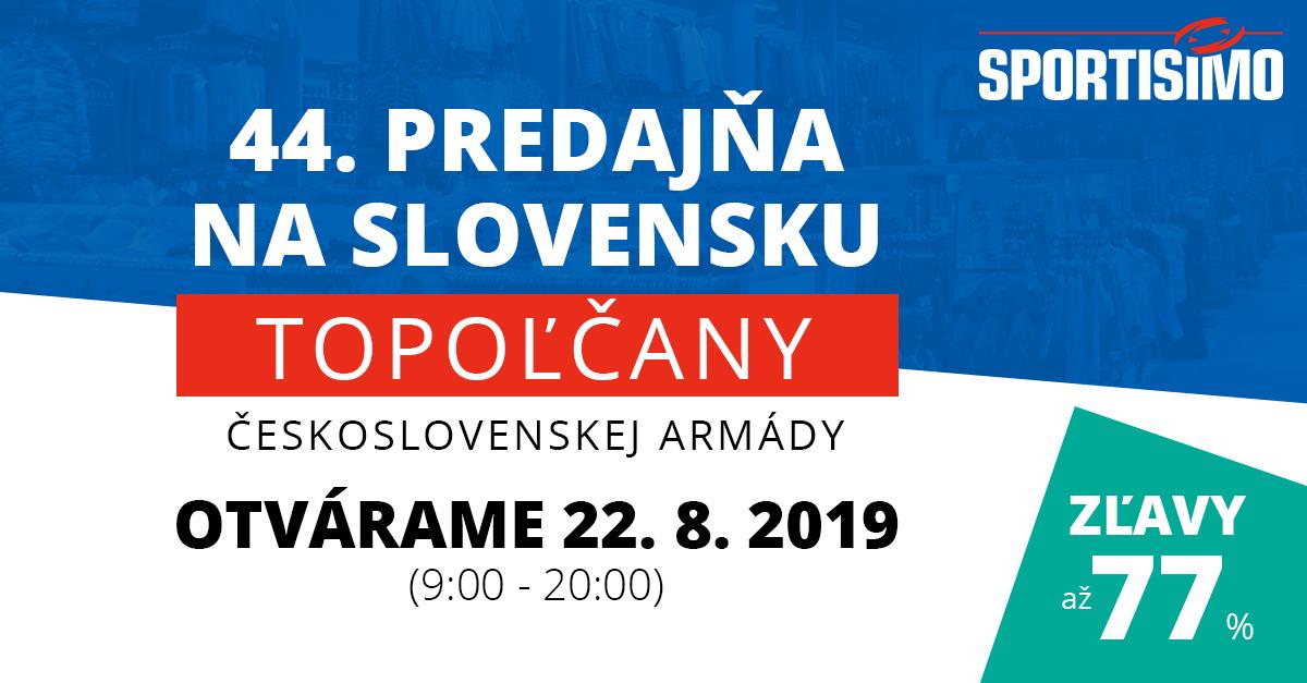 Nová predajňa v Topoľčanoch: Užite si zľavy až 77 %