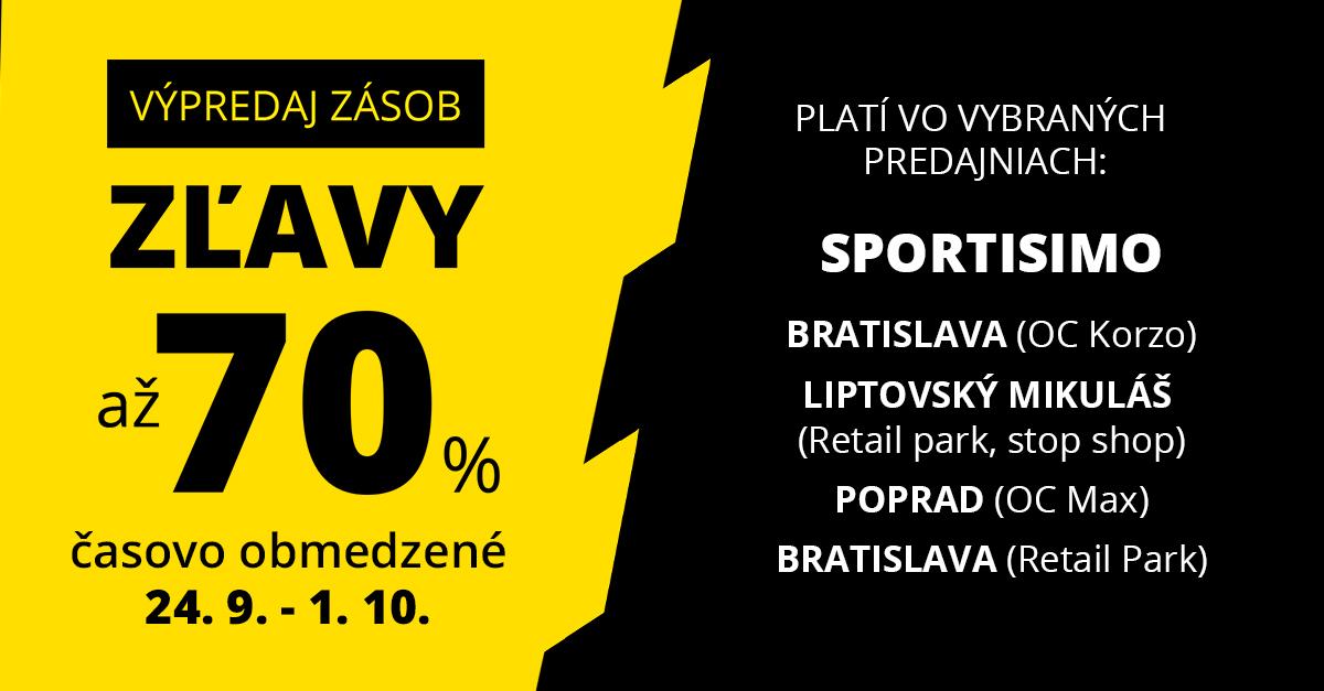 Likvidácia: Nakúpte so zľavou až 70 %