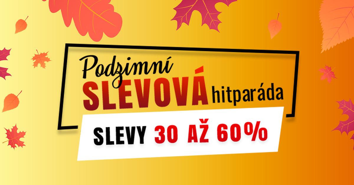 Podzimní slevová hitparáda: Připravte se na jízdu se slevami od 30 do 60 %. Na oblečení i obuv.