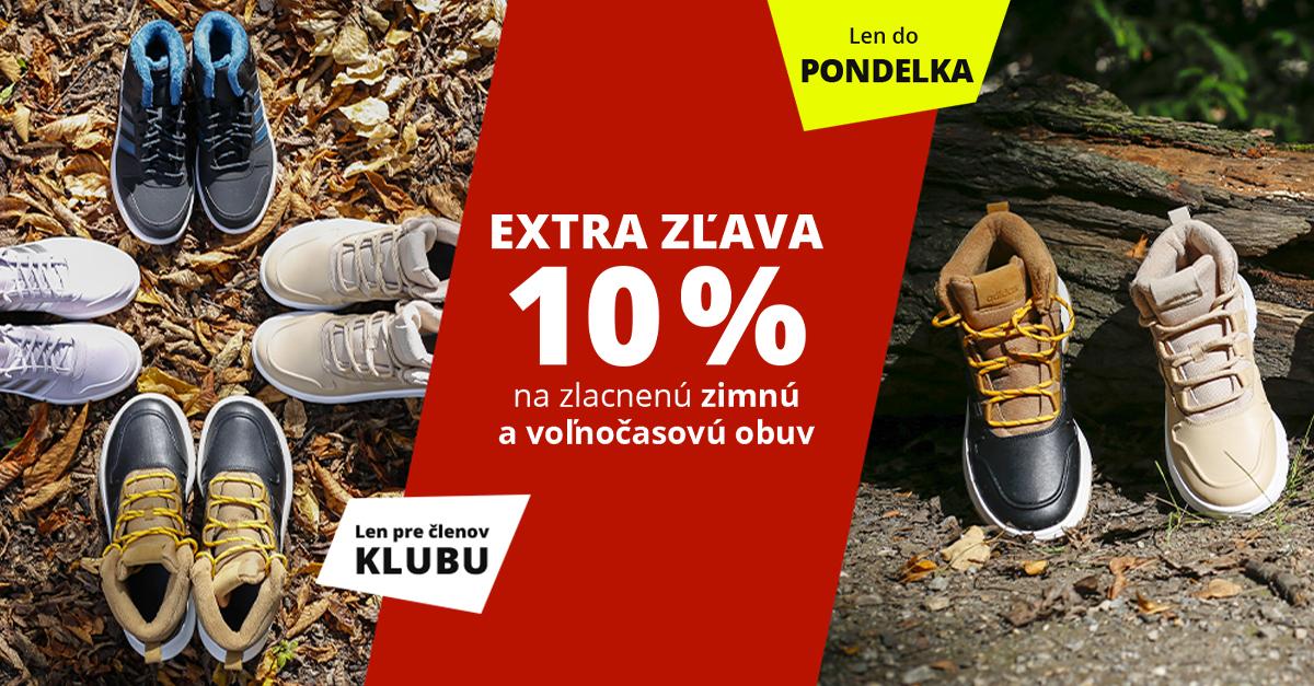 Dni Sportisimo Klubu: Zlacnená zimná a voľnočasová obuv o 10 % lacnejšie