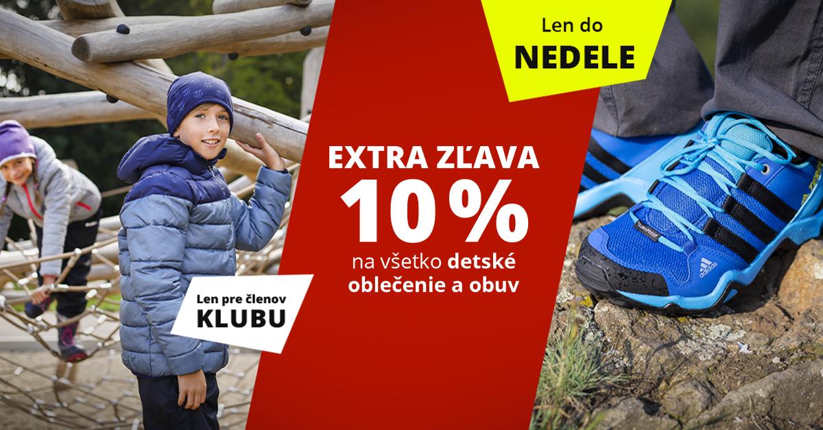 Dni Sportisimo Klubu: Všetko detské oblečenie a obuv s extra zľavou 10 %