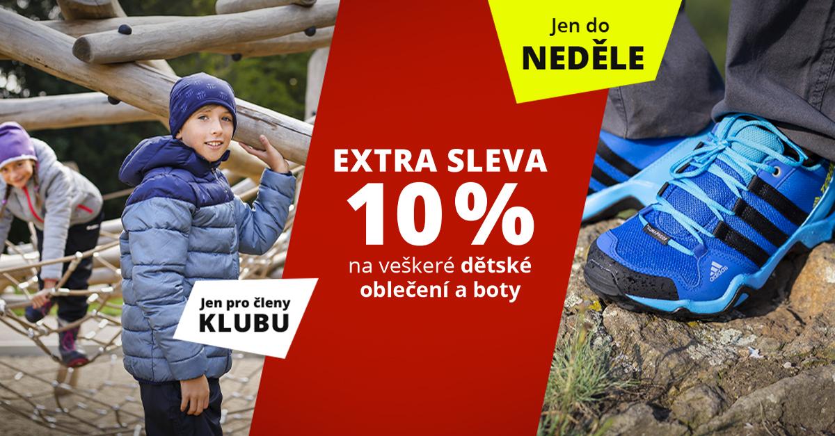 Dny Sportisimo Klubu: Veškeré dětské oblečení a obuv s extra slevou 10 %