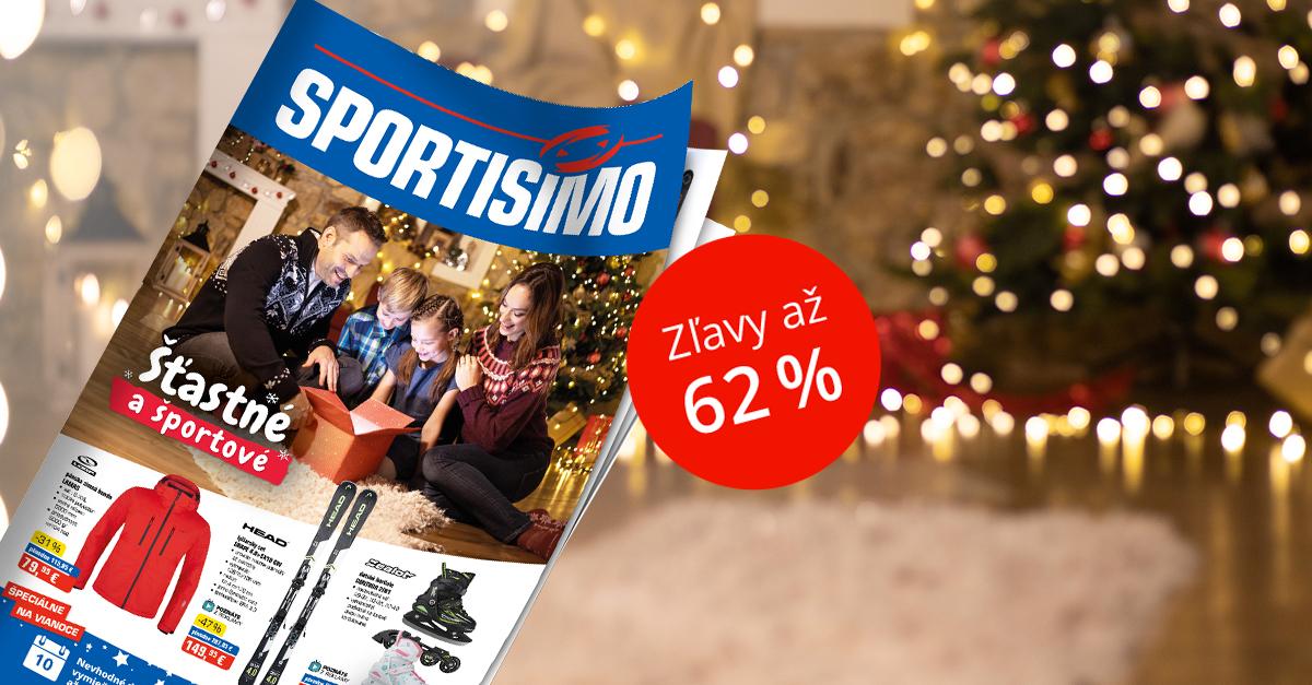 Nový akciový leták: Vianoce šťastné a športové so zľavou až 62 %
