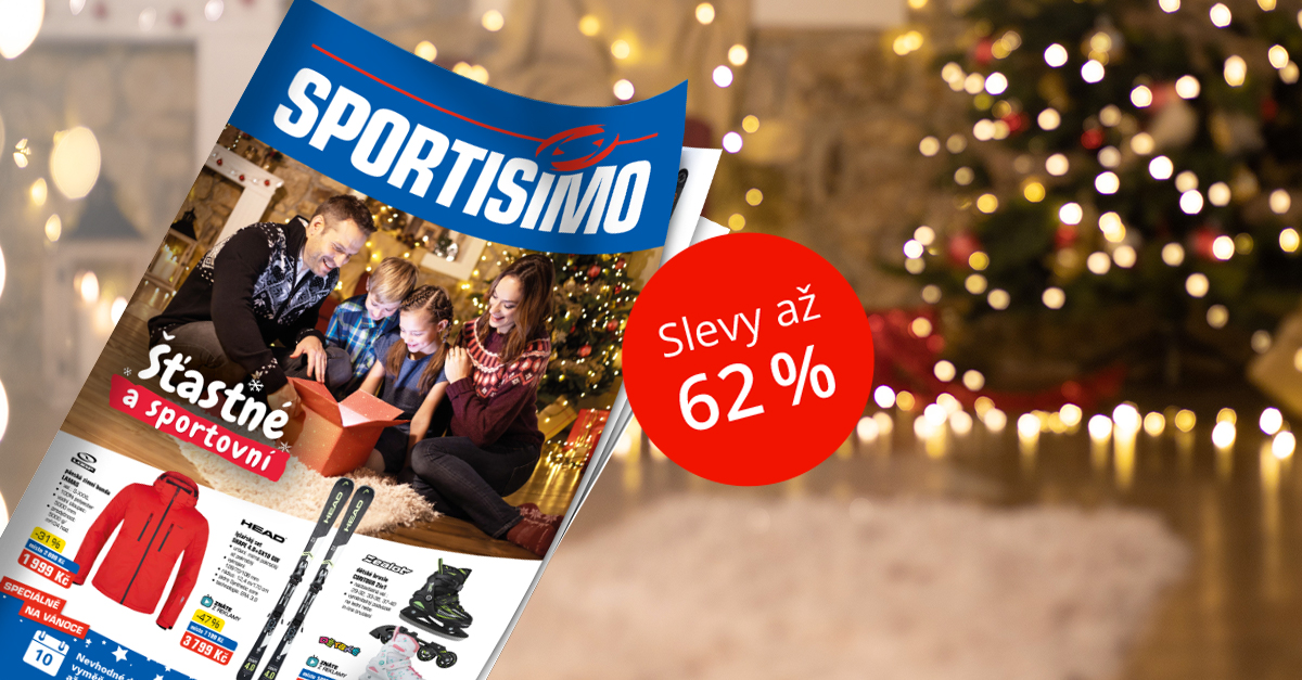 Nový akční leták: Vánoce šťastné a sportovní se slevou až 62 %
