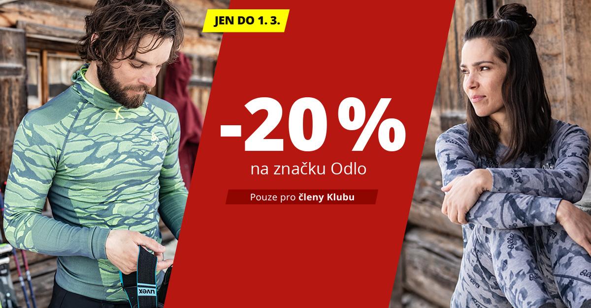 Nakupujte se slevou 20 % zboží od značky Odlo