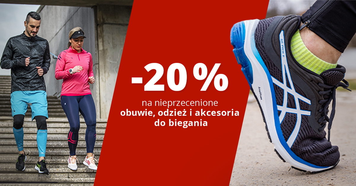 Marzec miesiącem biegu: Rabat 20% na obuwie, odzież i akcesoria do biegania!