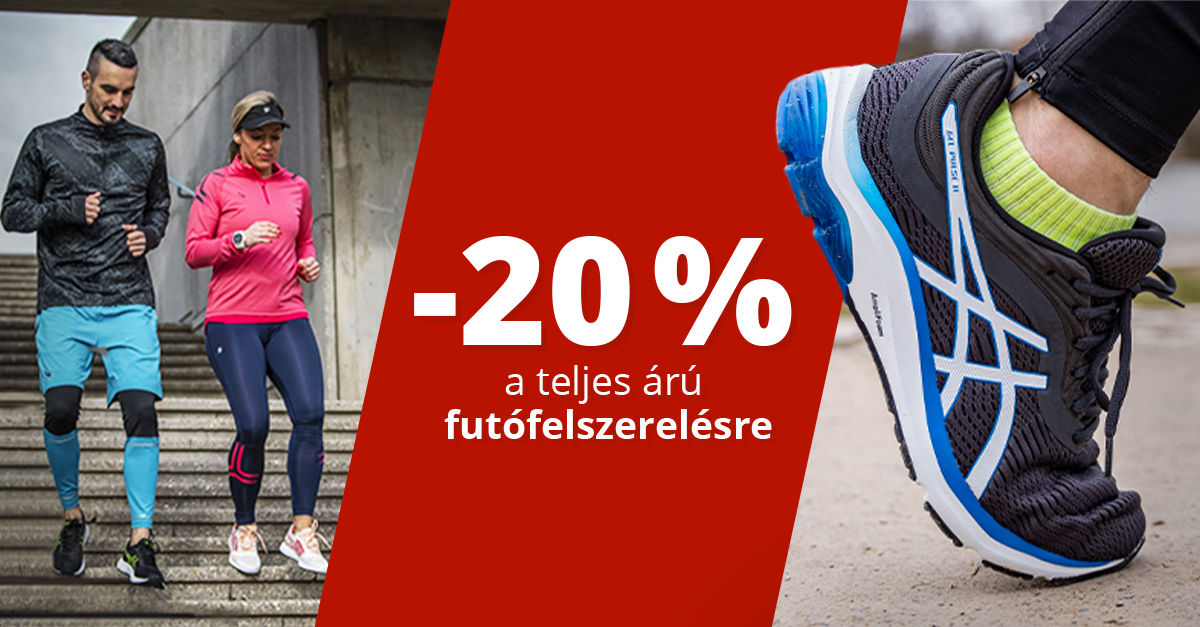 Március, a futás hónapja: -20% a futófelszerelésre!