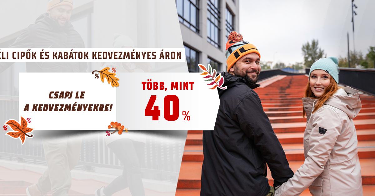 Csapj le a kedvezményekre! –40% a téli cipőkre és kabátokra!