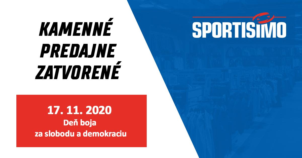 V utorok 17. 11 v predajniach Sportisimo nenakúpite, ale teší sa na vás náš e-shop