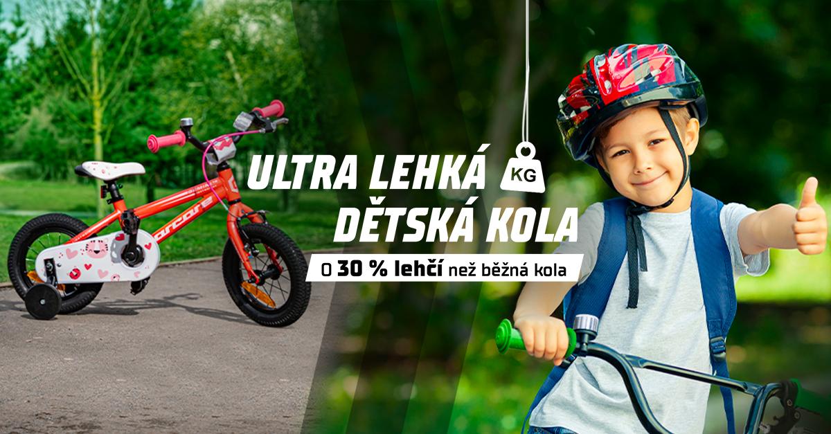 Ultra lehká dětská kola skladem! Jsou o 30 % lehčí než ostatní