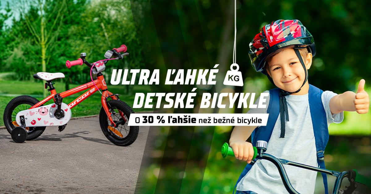 Ultra ľahké detské bicykle skladom! Sú o 30 % ľahšie než ostatné