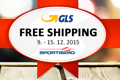 FREE SHIPPING from December 9th – 15th, 2015. A gift to you for the holidays from GLS and Sportisimo!
