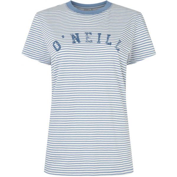 O'Neill LW ESSENTIALS STRIPE T-SHIRT modrá S - Dámské tričko