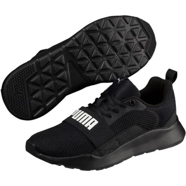 Puma WIRED JR černá 4 - Chlapecké volnočasové boty