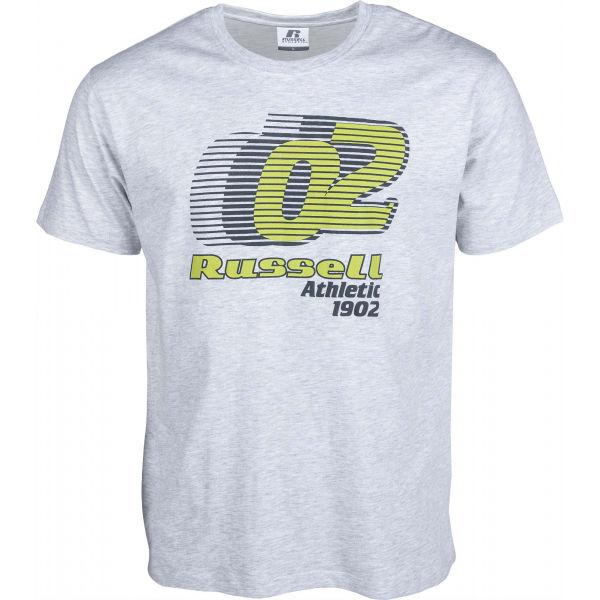 E-shop Russell Athletic SPEED GRAPHIC S/S CREWNECK TEE SHIRT šedá - Pánské tričko