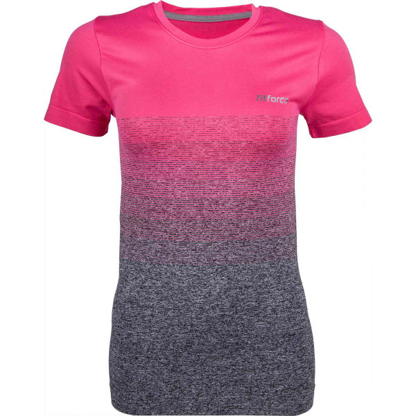 Fitforce ROXA ružová S - Dámske fitness tričko