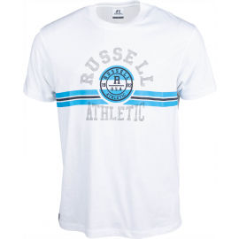 Russell Athletic COLLEGIATE STRIPE CREWNECK TEE SHIRT - Pánske tričko