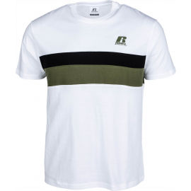 Russell Athletic STRIPED PANEL CREWNECK TEE SHIRT