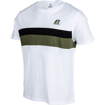 Pánske tričko - Russell Athletic STRIPED PANEL CREWNECK TEE SHIRT - 2
