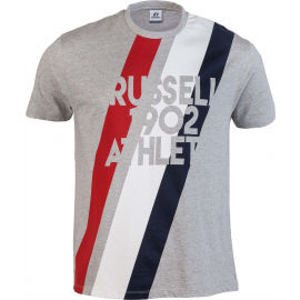 Russell Athletic STRIPE 1902 S/S CREWNECK TEE SHIRT - Men's T-shirt