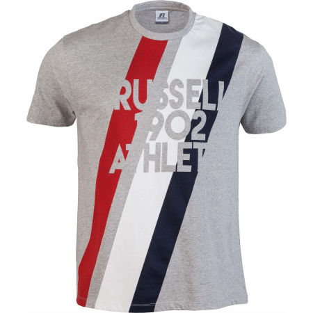 Russell Athletic STRIPE 1902 S/S CREWNECK TEE SHIRT - Férfi póló