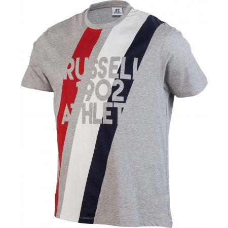 Herrenshirt - Russell Athletic STRIPE 1902 S/S CREWNECK TEE SHIRT - 2