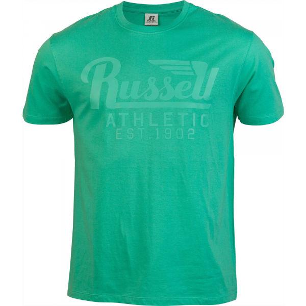 Russell Athletic WING S/S CREWNECK TEE SHIRT světle zelená XXL - Pánské tričko