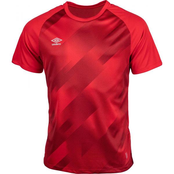 Umbro TRAINING GRAPHIC TEE červená XXL - Pánske športové tričko